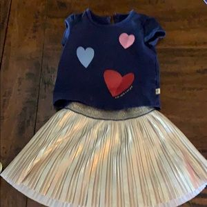 Toddler Kate Spade ♠️ skirt & T-shirt set